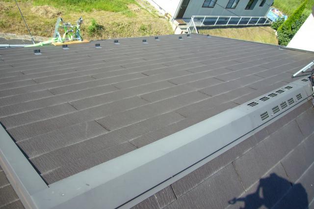 スレート屋根 太陽光設置前