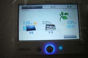 シャープ太陽光発電モニター