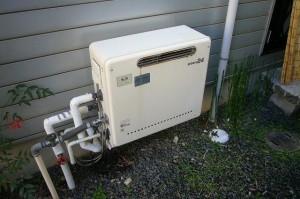 宇治市 オール電化工事 ガス給湯器