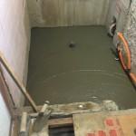 浴室リフォーム コンクリート打設
