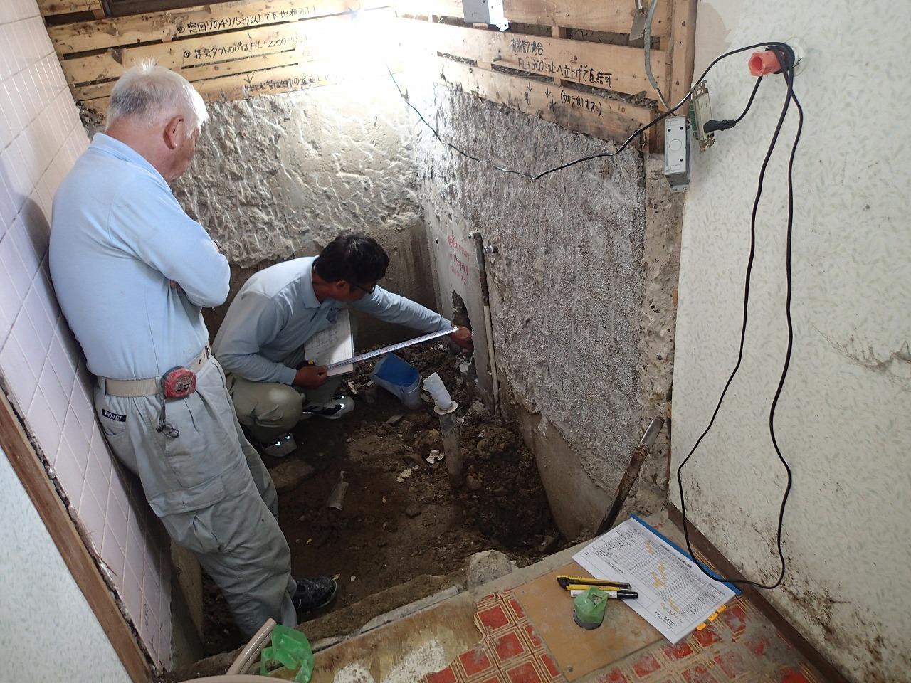 浴室排水工事