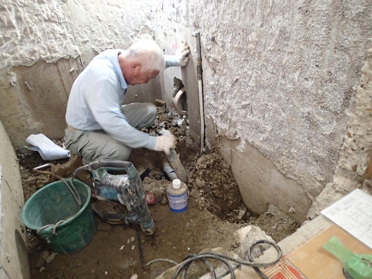 浴室配管工事