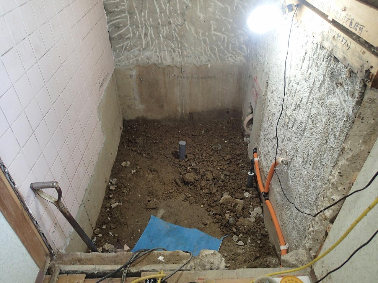 浴室リフォーム 配管工事