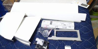 エアコンクリーニング CS-X252C-W 分解後