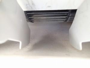 エアコンクリーニング CS-X252C-W 清掃前 吹き出し