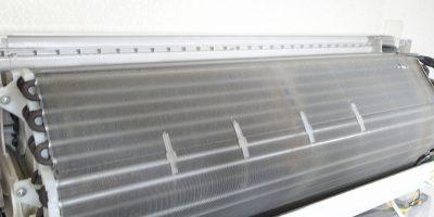 エアコンクリーニング CS-X252C-W 清掃前 アルミフィン