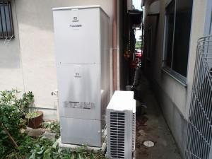 オール電化 電気温水器からエコキュート  城陽市