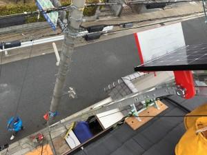 京都府城陽市 太陽光発電設置工事 パネル用リフト