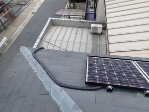 京都府城陽市 太陽光発電設置工事 2重管