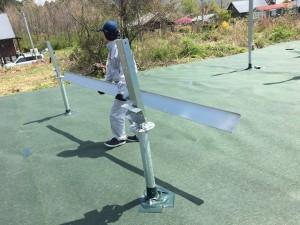 太陽光架台の組立