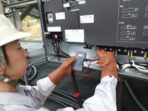 太陽光発電 開放電圧の測定