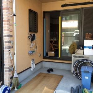電気温水器運搬のための養生