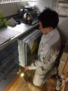 食洗機設置工事