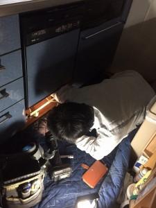 ビルトイン食洗器の取り外し
