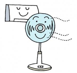 エアコン+扇風機