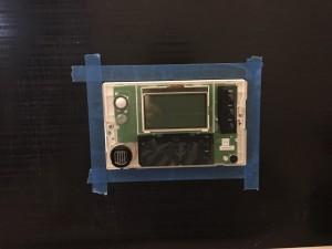 エコキュートリモコン マスキングテープ