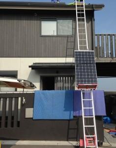 太陽光施工 電動昇降機