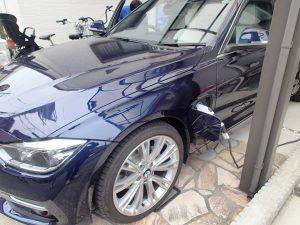 BMW330eプラグインハイブリッド充電設備工事