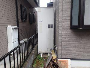 電気温水器からエコキュートへ取替え工事