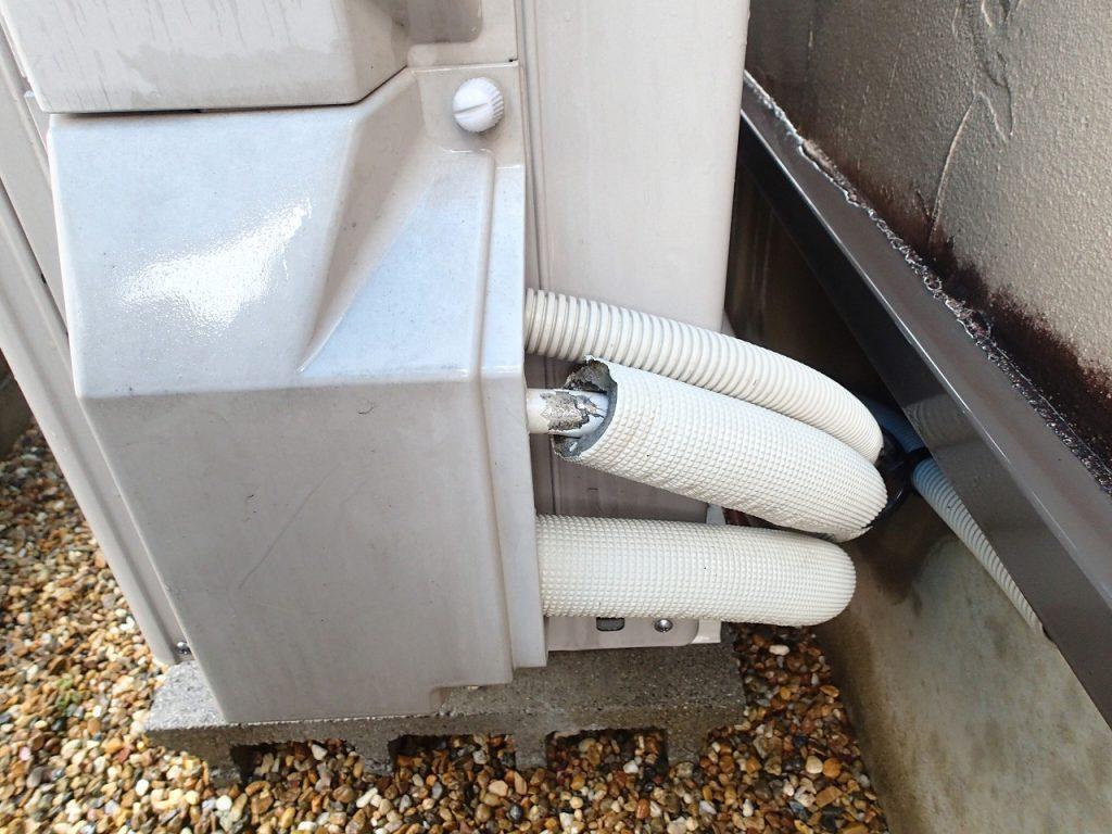 エコキュート ヒートポンプ配管の水漏れ修理
