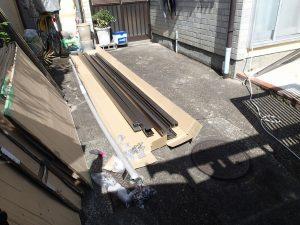 城陽市 波板テラス新設工事