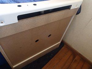 城陽市 洗面台の穴あけ加工