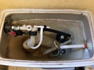 トイレの水漏れフロート弁の破損