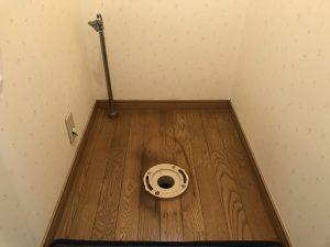 トイレ交換 便器取り外したフランジの状態