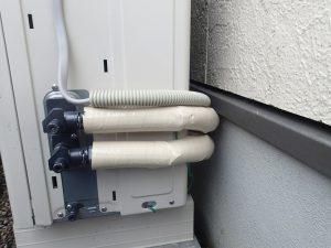 ヒートポンプの配管保温工事