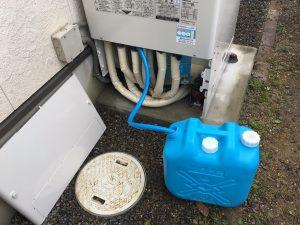 エコキュートの非常用取水栓の取扱いイメージ