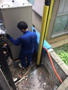 電気温水器の撤去工事
