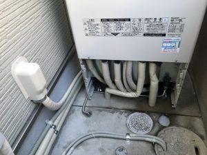 エコキュトの配管の保温工事