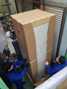 エコキュートを梱包状態で運搬