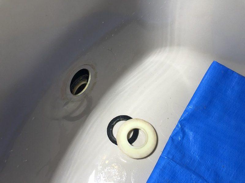 追い炊きアダプター金具の破損
