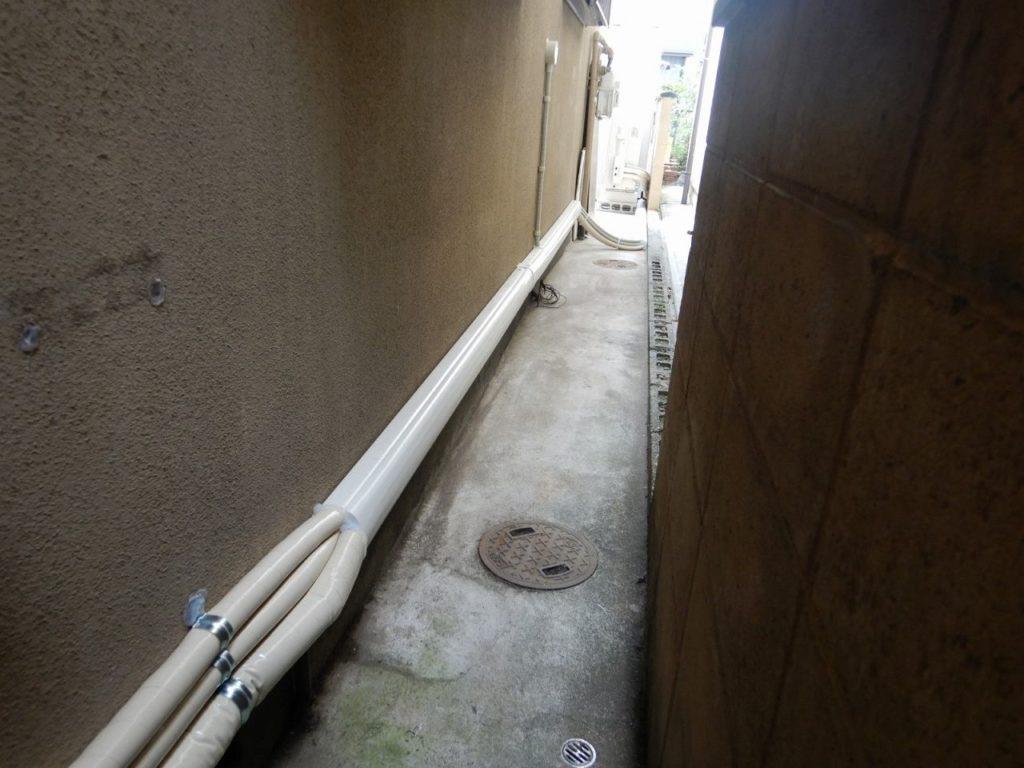 ガス給湯器からの配管