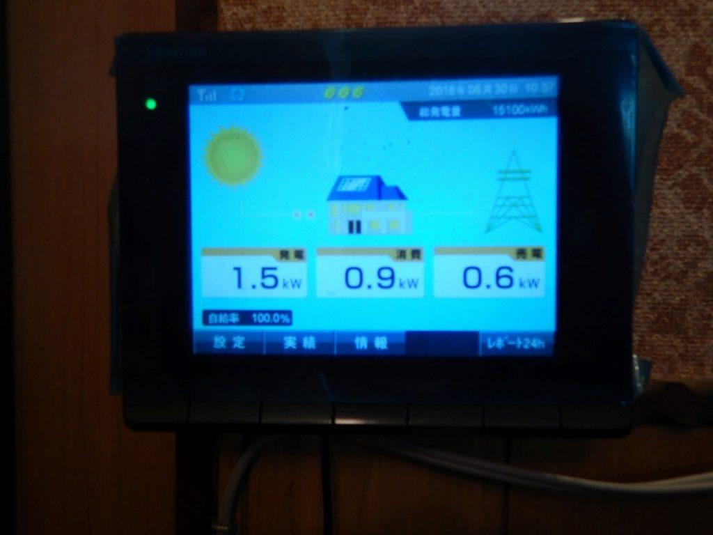 太陽光モニターで発電量の確認