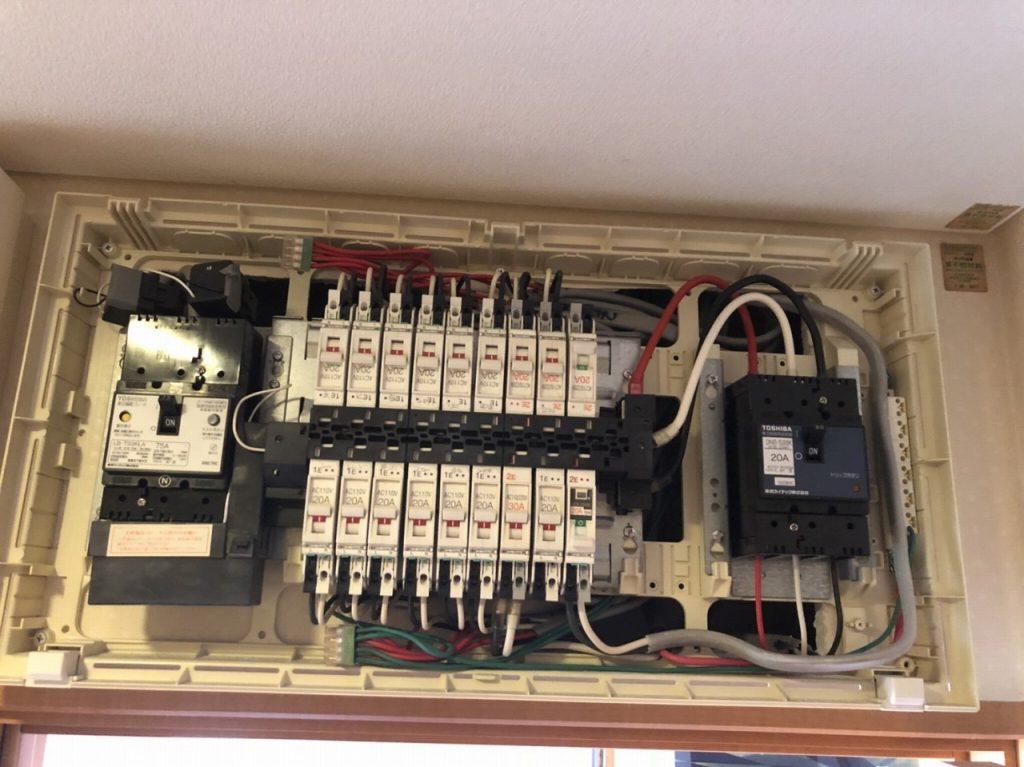 分電盤で電気工事