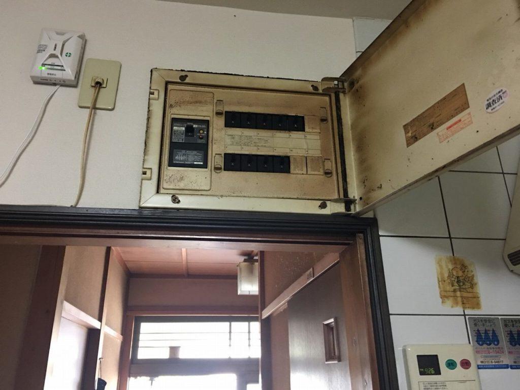工事前の分電盤