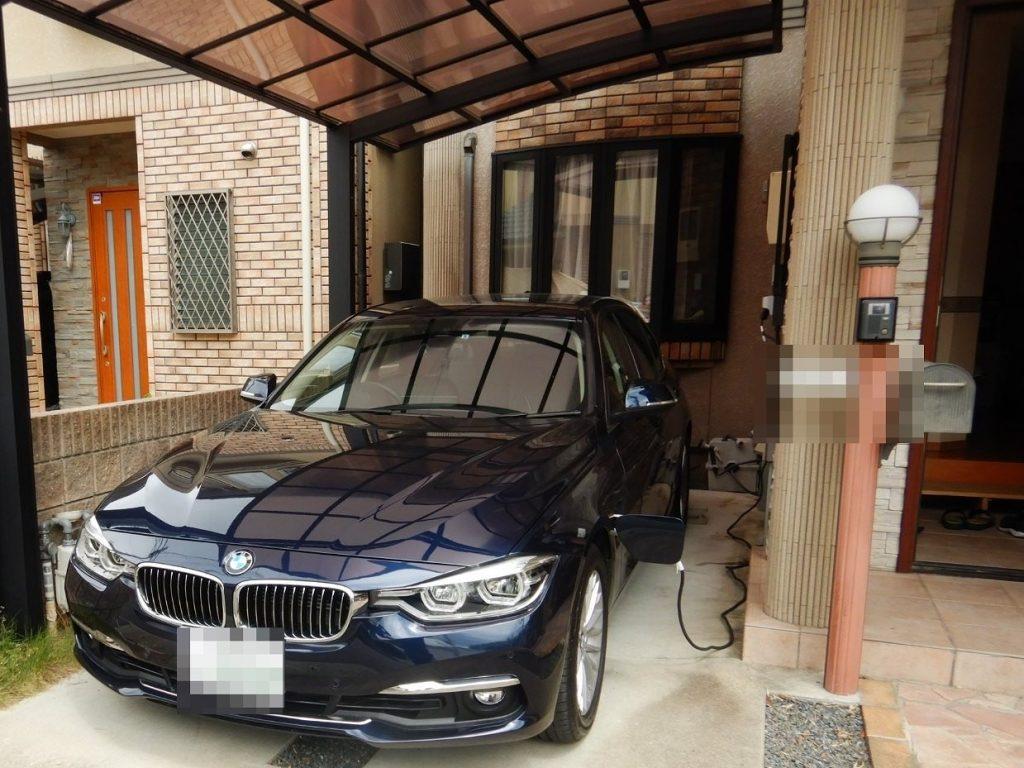 BMW330eプラグインハイブリッドの充電