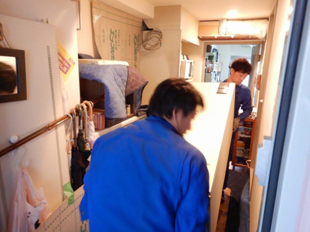 電気温水器を家の中から撤去