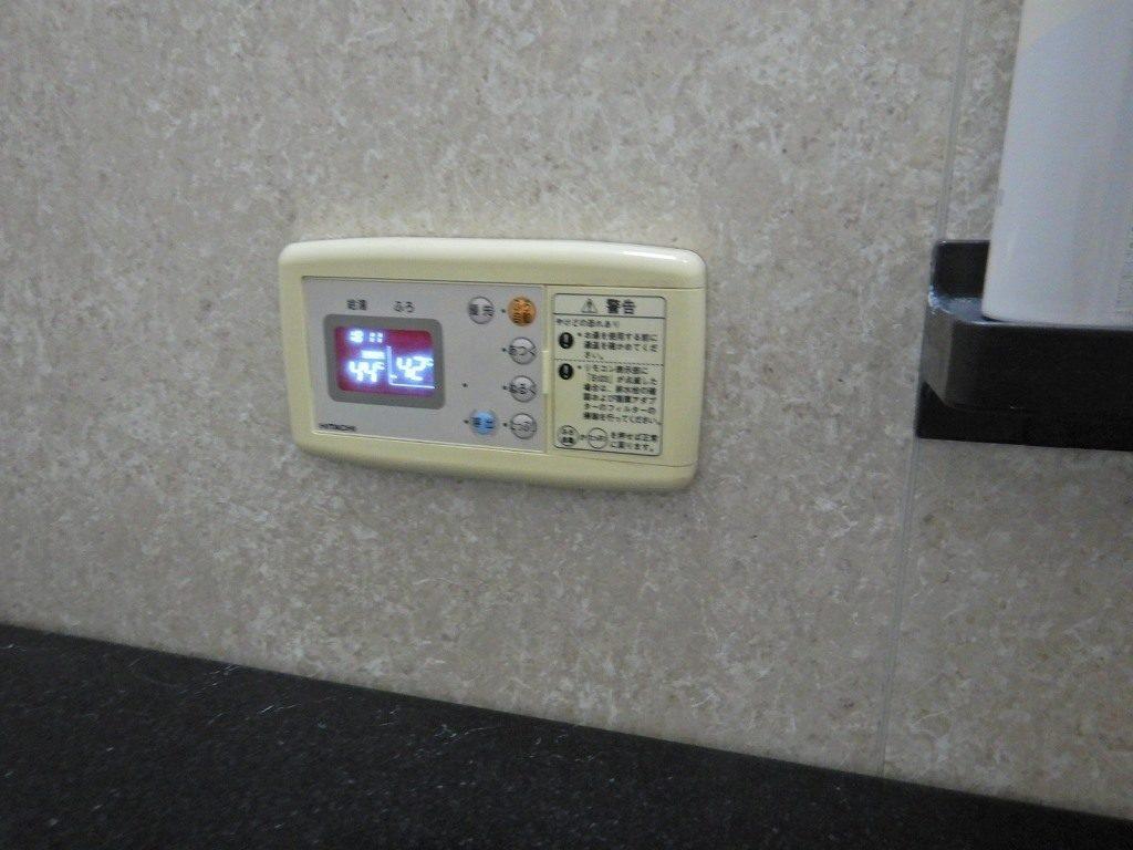 日立 電気温水器の風呂リモコン