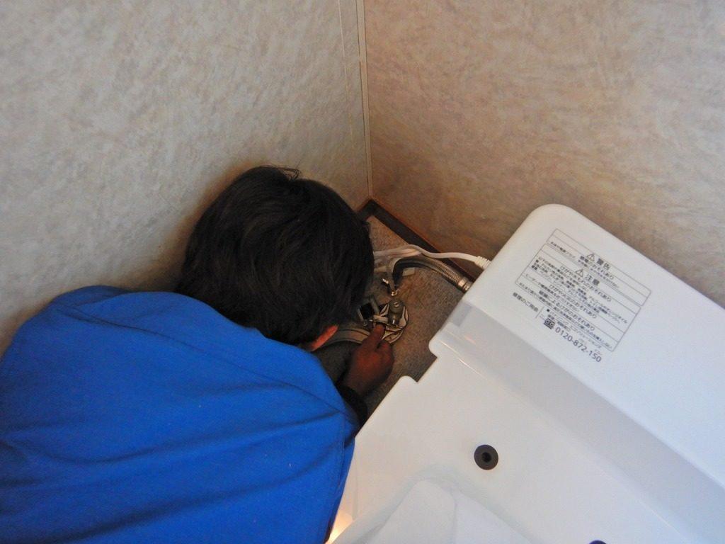トイレ配管の接続