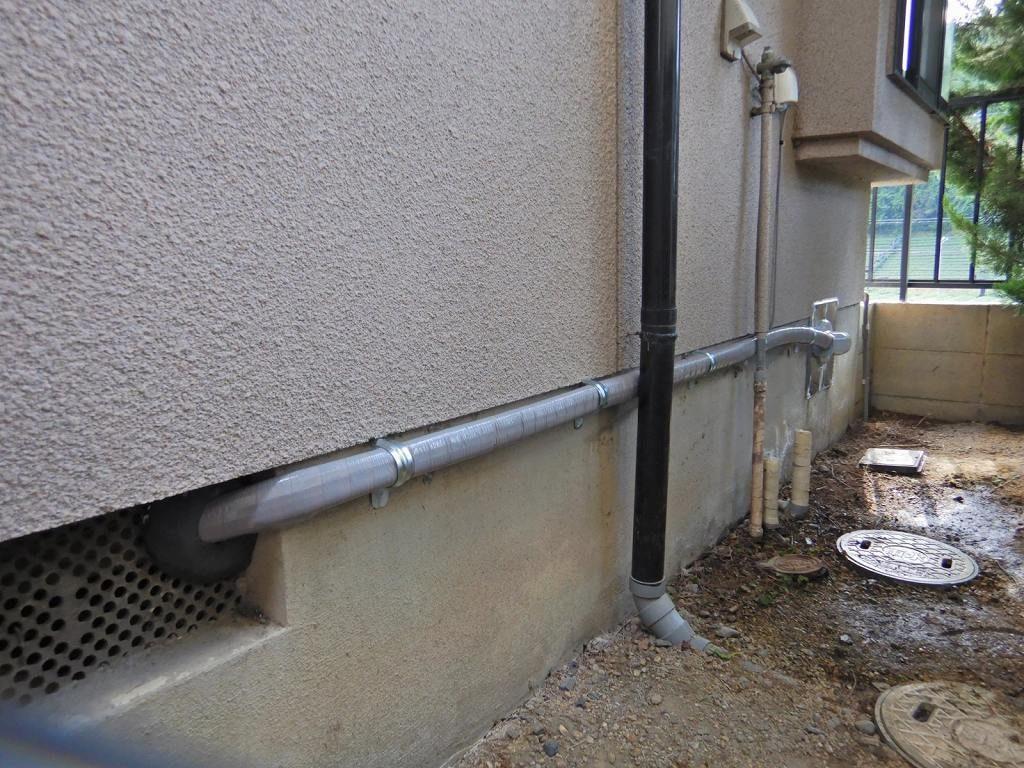 酸素用フルオートの配管に取替