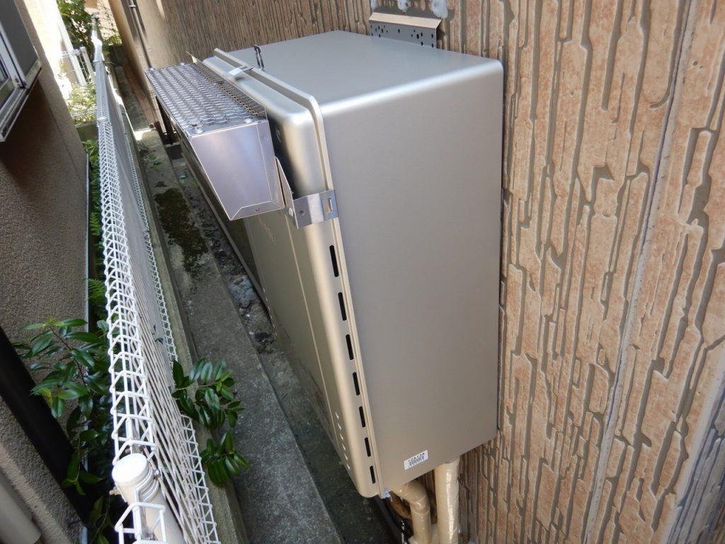 19 工事後 ガス給湯器の取替完了です