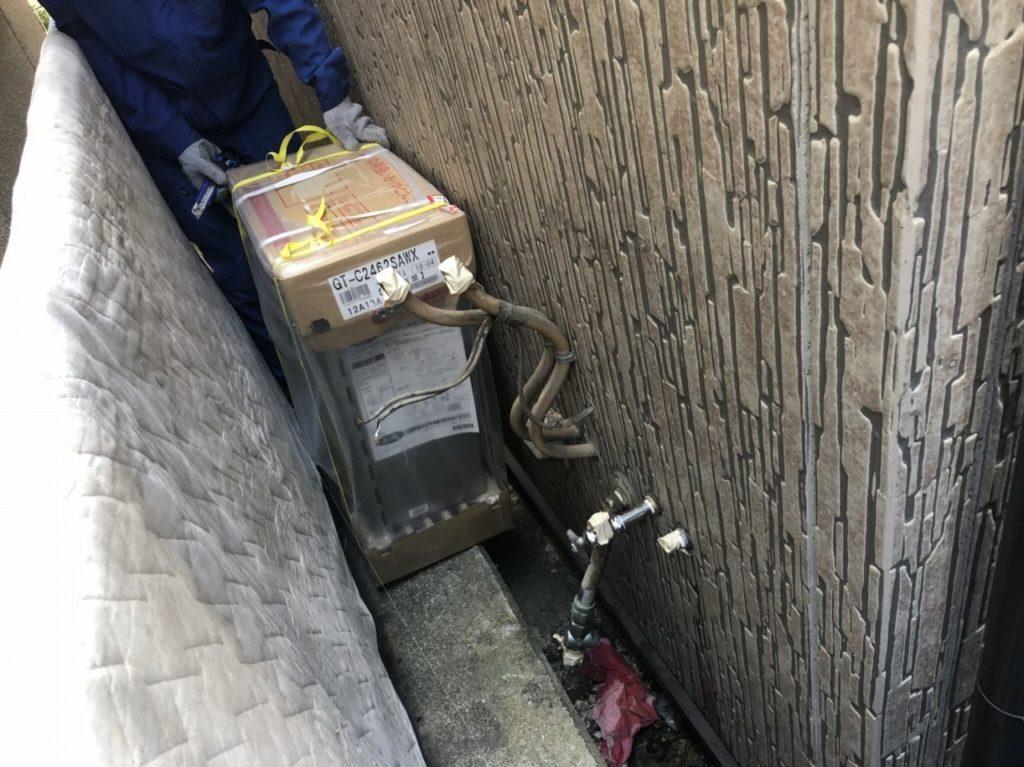 5 無事にガス給湯器の運搬完了