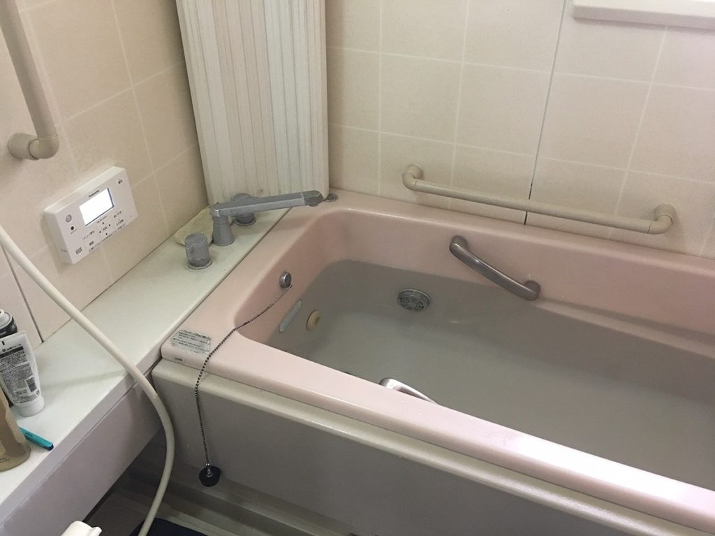 お風呂の湯量確認