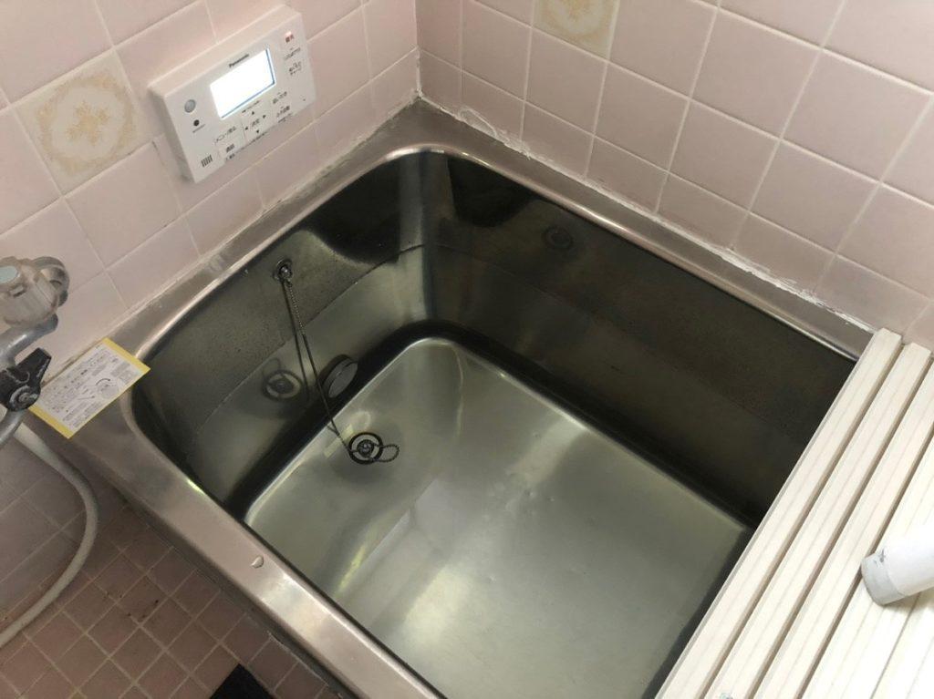 お風呂に水を貯める工事確認