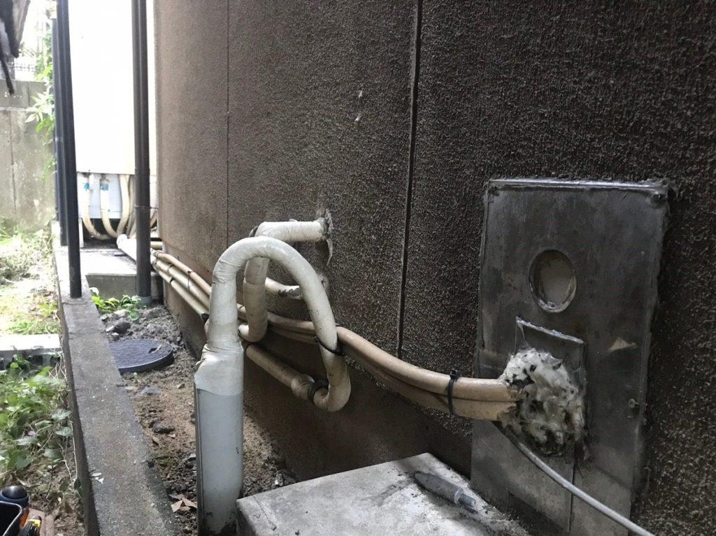 追い炊き配管のゴムホース