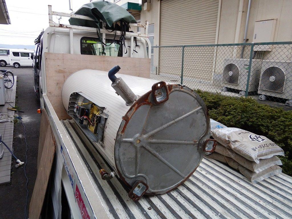 丸缶の電気温水器の故障