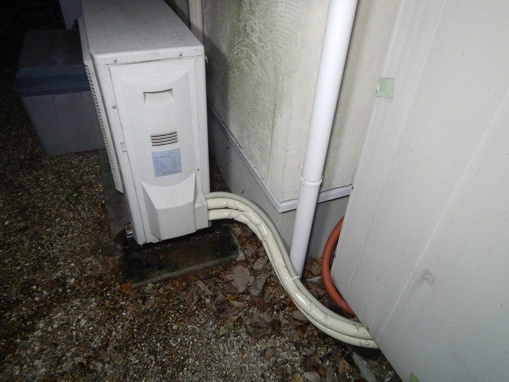 ヒートポンプ配管の水漏れ修理